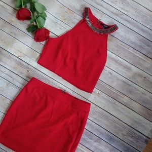 🌹Forever21 Set crop top and mini skirt